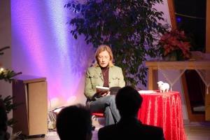 Simone Ehrhardt bei der Lesung am 2.1.11 in Weinsberg